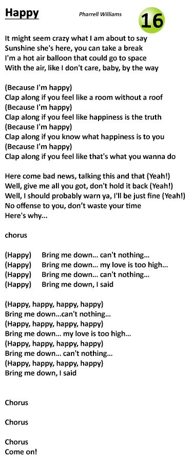 happy lyrics pharrell
