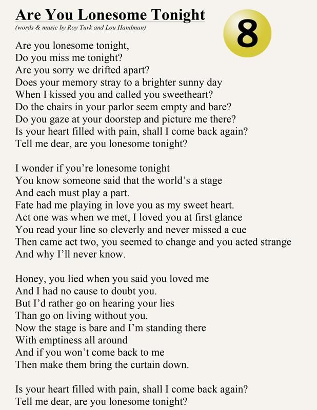 Index Of Lyrics